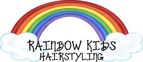Rainbow Kids Hairstyling Sticky Logo Retina